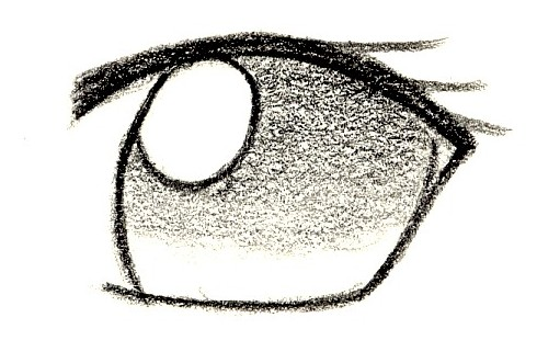 Comment dessiner des mangas oeil - Dessin oeil facile ...