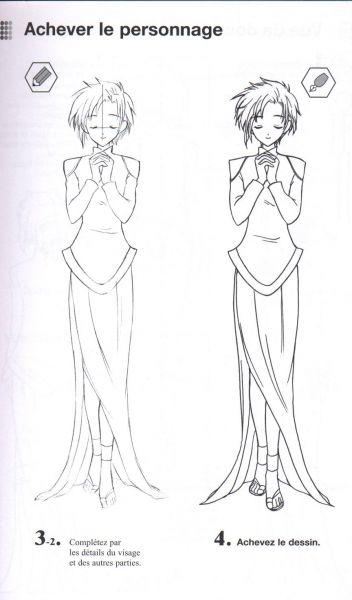 dessiner corps manga