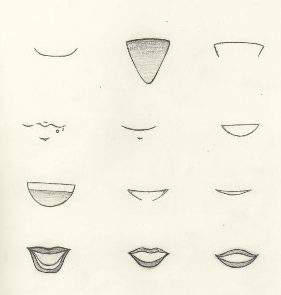 comment dessiner des bouches